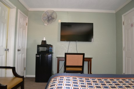 All rooms feature microwave and fridge plus flatscreen TVs